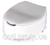 Туалетное сиденье с фиксатором и крышкой «TESEO» (14 см) OSD-TESEO-14LPP