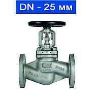 Вентиль регулировочный фланцевый, Ду 25/ 4,0 МПа/ до 350°С/ стальной корпус/ (арт. KGV-40F-25)