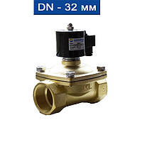 """Электромагнитный клапан прямого действия нормально-закрытый, мембрана-Viton (Т -5 150С), Ду 32(11/4""""), Ру Air:0~1,0MPa/ Water:0~"""