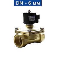"""Электромагнитный клапан прямого действия нормально-закрытый, мембрана-Viton (Т -5 150С), Ду 6 (1/8""""), Ру Air:0~1,0MPa/ Water:0~0"""