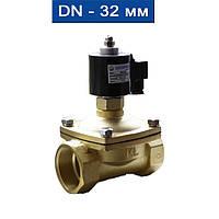 """Электромагнитный клапан прямого действия нормально-открытый, мембрана-Viton (Т -5 150С), Ду 32 (1 1/4""""), Ру Air:0~1,0MPa/ Water:"""