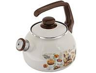 136870  Чайник эмалированный 2.5л 2426 Хлеб  Мetalac