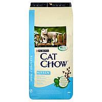 Сухой корм для котят Cat Chow (Кэт Чау) Kitten с курицей 15 кг