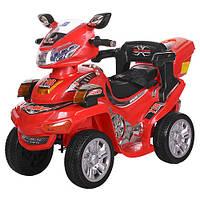 Детский электрический квадроцикл M 0633 EBR-3 красный, мягкие колеса с пультом