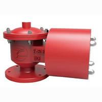 Клапан дыхательный комбинированный с огневым предохранителем, Ду 100 (Fig. F001-100)