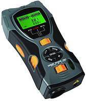 Мультифункционалный прибор KC109A - 5 в 1: дальномер, детектор металла, проводки под напряжением, t°C, уровень, фото 1