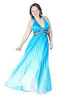 """Вечернее платье """"Адель"""", 44-48, голубой"""