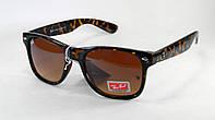 Стильные солнцезащитные очки Ray Ban Wayfarer 2140 тигровые