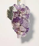 Виноград декоративный из натурального камня 8 см. Аметист (S), фото 3