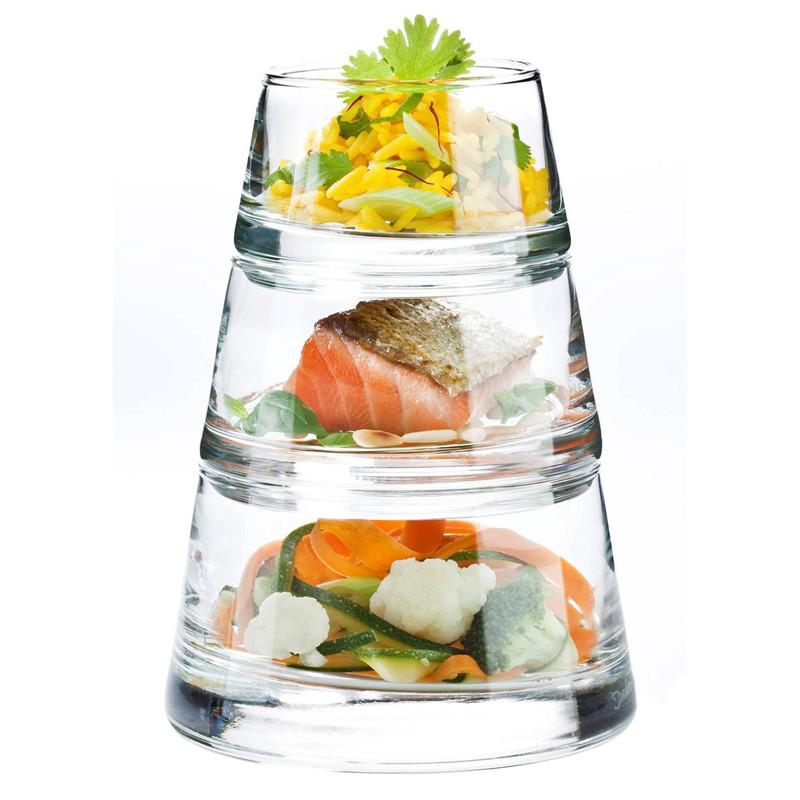 """Набор посуды для закусок Durobor Vertigo Pyramide 800 мл., 3 предмета - Интернет-магазин """"Modern Shop"""" в Одессе"""