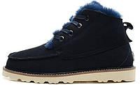 Мужские зимние ботинки угги UGG Australia David Beckham Boots Dark Blue