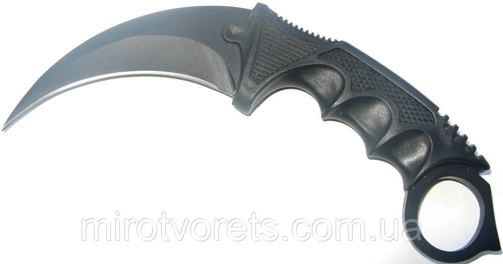 Нож керамбит CS GO чёрный