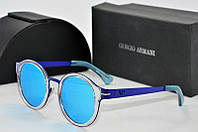 Солнцезащитные очки круглые Armani синие