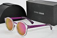 Солнцезащитные очки круглые Armani розовые