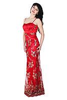 Вечернее платье с вышитым гипюром, 42