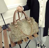 Большая меховая/шерстяная сумка