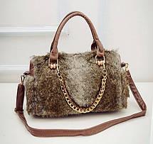 Большая меховая/шерстяная сумка, фото 3