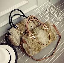 Большая меховая/шерстяная сумка, фото 2