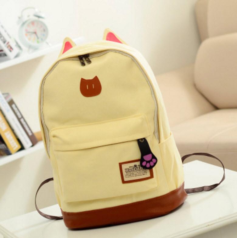 Большой тканевый рюкзак с ушками Lady Kat