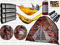 4Х местная палатка MIFINE KX-200+рюкзак+2 гамака+4 каремата+15 LED кемпинговый фонарик+велосипедный фонарик