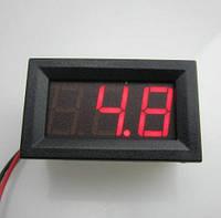 Вольтметр V27DC-A 0-100 В(красные цифры)