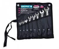 Набор ключей рожково-накидных в тканевом чехле, CR-V 14 шт Berg