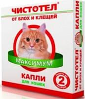 Чистотел Макси Капли от блох и клещей для кошек