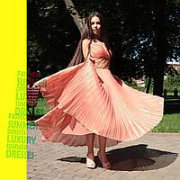Вечернее платье с плиссированной юбкой, 44-48