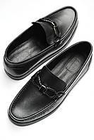 Мужские лоферы туфли мужские Baldinini  черные кожаные