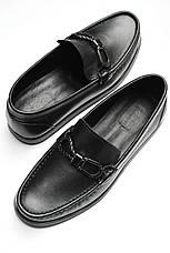 Мужские лоферы туфли мужские Baldinini  черные кожаные , фото 3