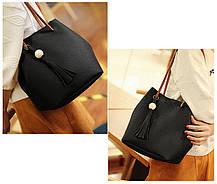 Практичный набор сумок 4в1 для модных деловых девушек, фото 2