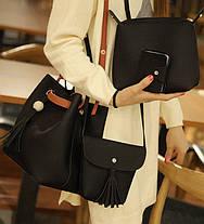 Практичный набор сумок 4в1 для модных деловых девушек, фото 3