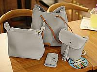 Практичный набор сумок 4в1 для модных деловых девушек