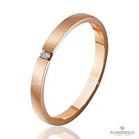 Эдем Золотое обручальное кольцо c бриллиантом коа7103