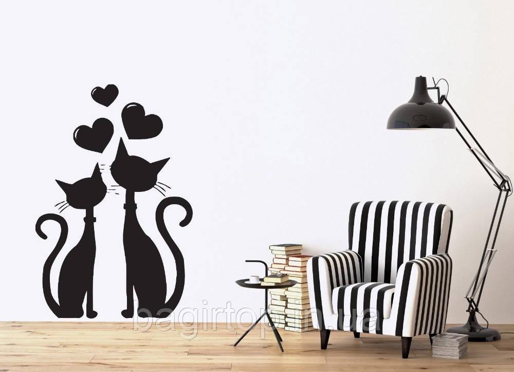 Виниловая наклейка- Любовь ( коты)