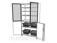 Шкаф медицинский для инструментария и медикаментов ШМ-К-05 Medin (Медин)