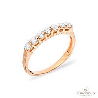 Столичная Ювелирная Фабрика Золотое кольцо c циркон (фианит)ом 140254