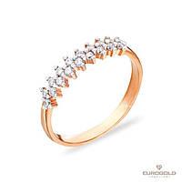 Столичная Ювелирная Фабрика Золотое кольцо c циркон (фианит)ом 140316