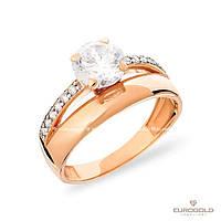 Столичная Ювелирная Фабрика Золотое кольцо c циркон (фианит)ом 140411