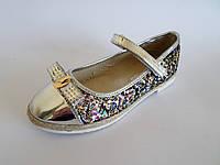 Туфли нарядные для девочек с застежкой липучкой