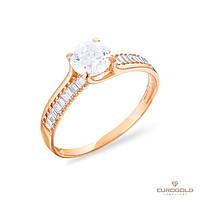 Столичная Ювелирная Фабрика Золотое кольцо c циркон (фианит)ом 140423