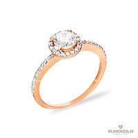 Столичная Ювелирная Фабрика Золотое кольцо c циркон (фианит)ом 140468
