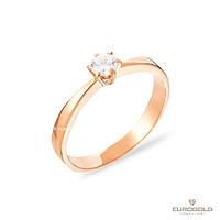 Столичная Ювелирная Фабрика Золотое кольцо c циркон (фианит)ом 140486
