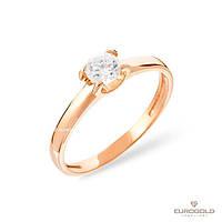 Столичная Ювелирная Фабрика Золотое кольцо c циркон (фианит)ом 140566