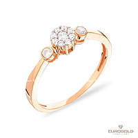 Столичная Ювелирная Фабрика Золотое кольцо c циркон (фианит)ом 140585