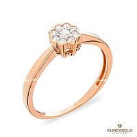 Столичная Ювелирная Фабрика Золотое кольцо c циркон (фианит)ом 140586