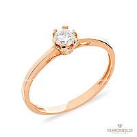 Столичная Ювелирная Фабрика Золотое кольцо c циркон (фианит)ом 140596