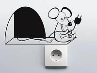 Виниловая наклейка на розетку- (Мышонок )