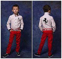 """Модельные брюки """"ЛЕН""""на мальчика"""