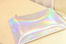 Стильный голографический клатч-конверт, фото 3